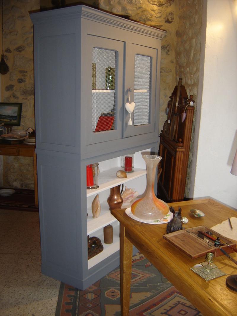 Meuble deux corps vendu l atelier du rat d 39 acier for Atelier du meuble rustique